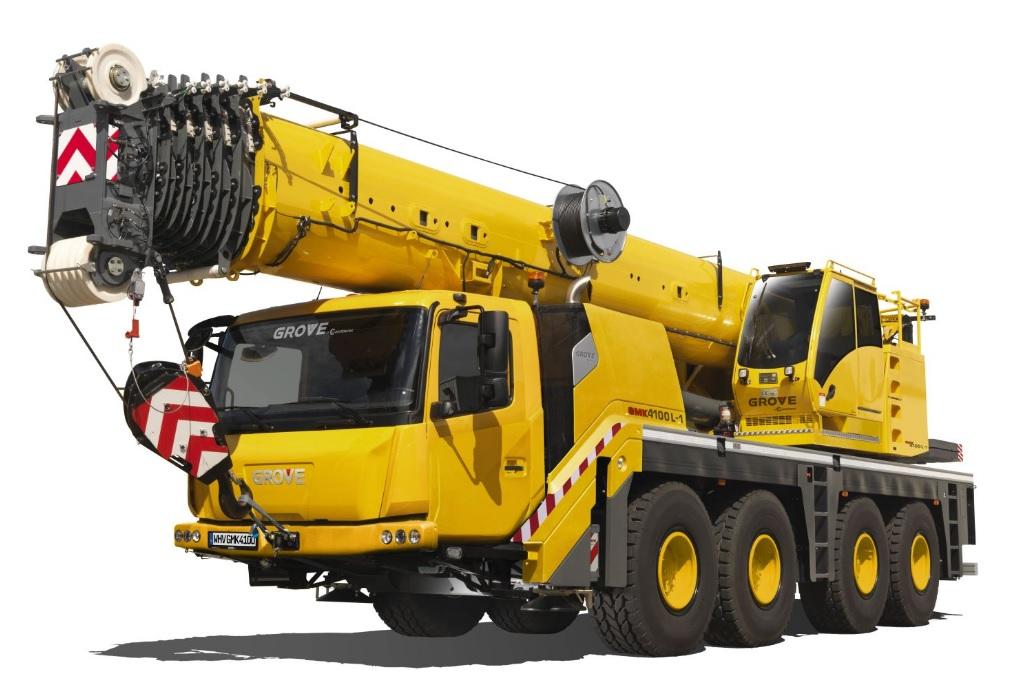 Zdjęcie przedstawia wynajem dźwigu 100 ton